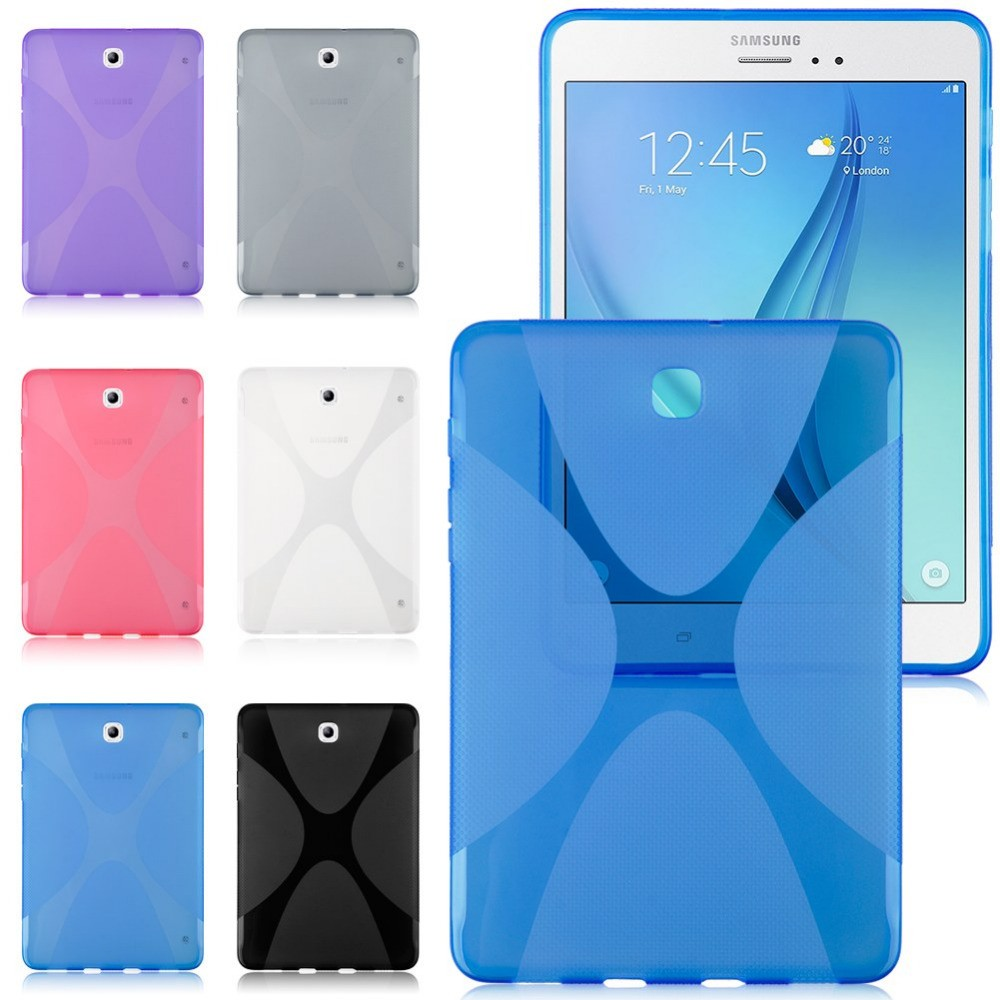 X Line Soft TPU Silicon Case Semi Clear Gel Cover Anti Slip Skin For Samsung Galaxy Tab S2 8.0 T710 T715 T715C T713 T719