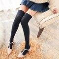 2017 nuevo de alta calidad de la manera womem largo calcetines de algodón elástico más de la rodilla calcetines de caña alta manguera de moda elegante caliente