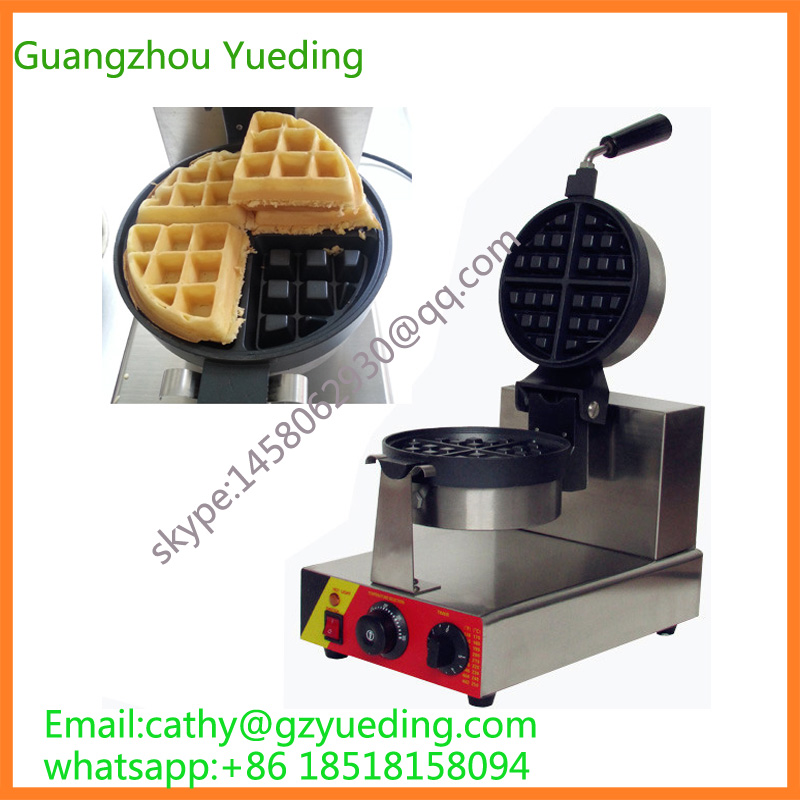 Single Head Waffle Maker/Rotate Waffle Machine/Rotate Waffle Machinery one head rotary belgian waffle maker machine for commercial restaurant machinery wholesale