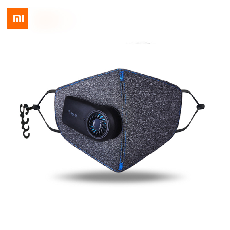 Stock Xiaomi Purely Anti-Pollution Air Mask KN95 Smart PM2.5 Rechargeable Filter Three-dimensional Structure
