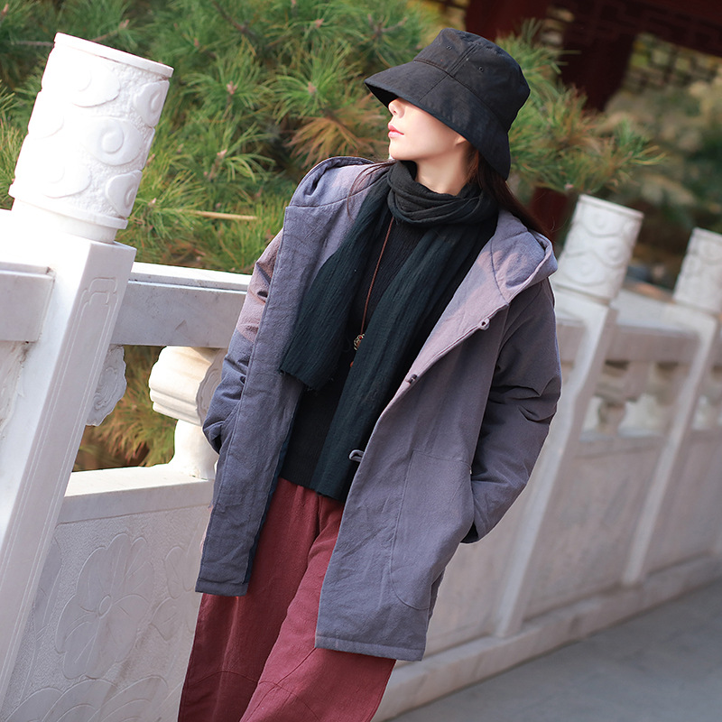 Delle lungo Formato Parka Spessore Con Donne white Cotone Casuale Outwear Trapunta Medio Di Neve Il Black A Giacca Cappotti Più Imbottito Inverno Nuovi Cappuccio gray 76ZqtwxUq