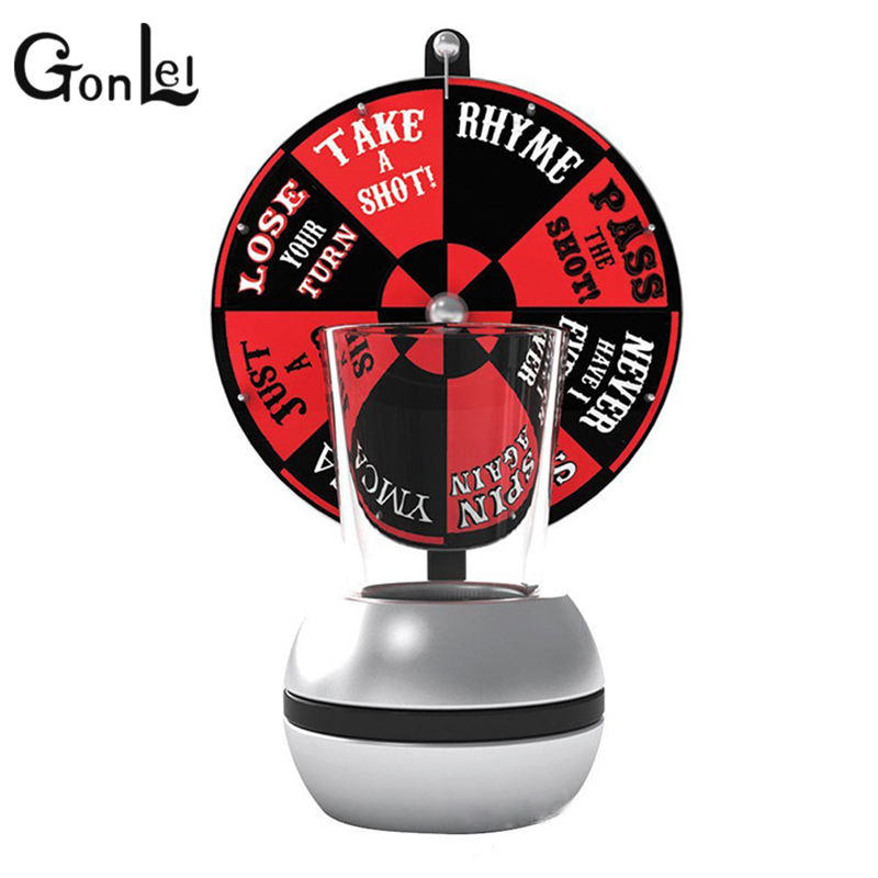 GonLeI Board game Darts Drinking Game Turntable Drinking Glass Tools Spinning Wheel Bar drinking Board Game Gags Practical Jokes image