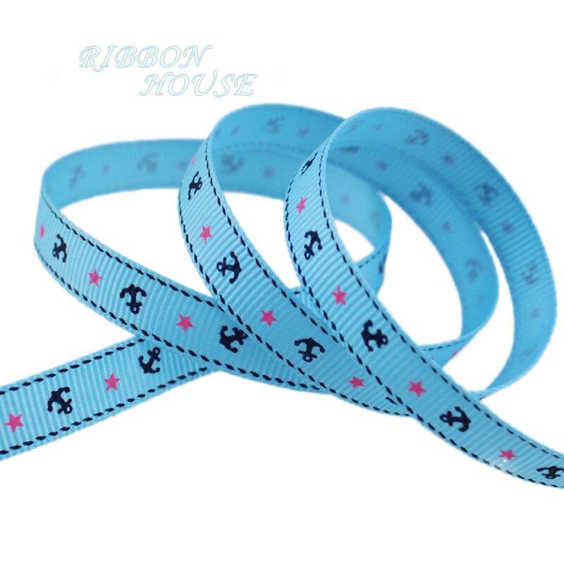 (5 ярдов/партия) 3/8 »(10 мм) якорь серии ленты хлопковая лента с принтом лента для подарочной упаковки украшение ленты