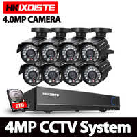 4.0MP CCTV System Video surveillance kit 8x4.0Mp SONY HD AHD Waterproof Security Camera 8Channel HDMI 1080P DVR NVR TVI CVI set
