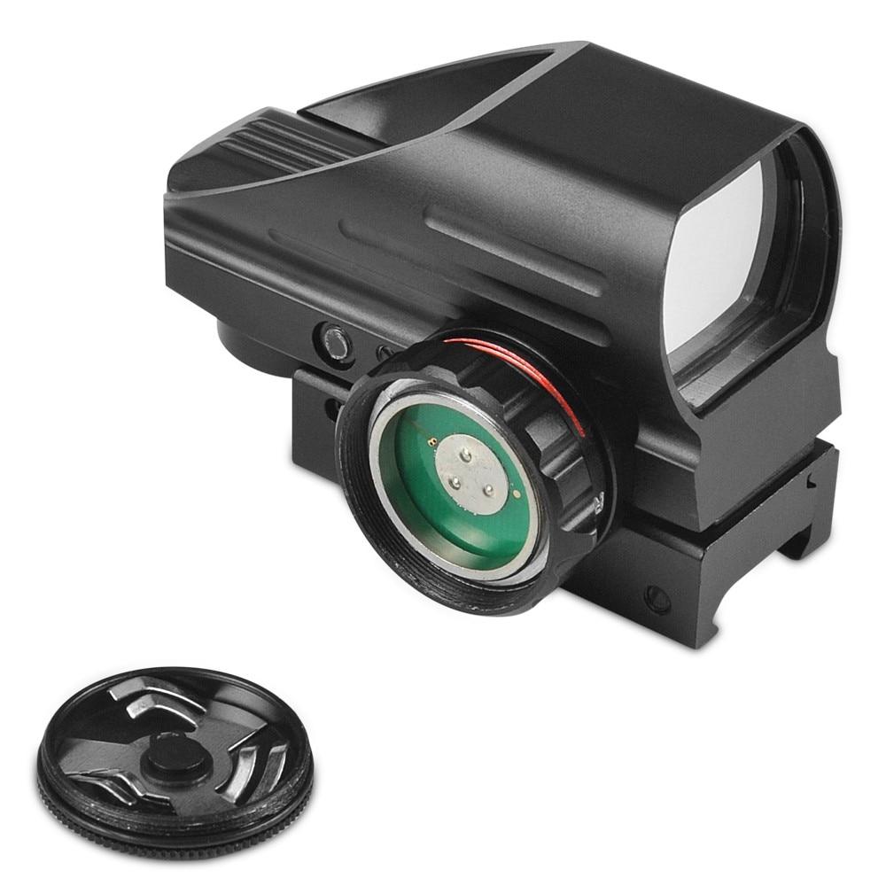 1x33mm visao optica holografica vermelho verde reflexo 04