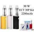 Cigarrillo electrónico cigarrillo electrónico vaporizador pluma vape ect et 30 p kit 30 w caja mod e hookah starter kit evaporador x1048