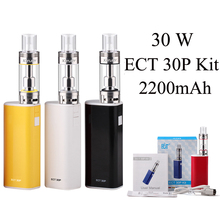 Electronic Cigarette E Cigarette Vaporizer Vape Pen ECT eT 30P Kit 30W Box Mod E Hookah Starter Kit Evaporator X1048