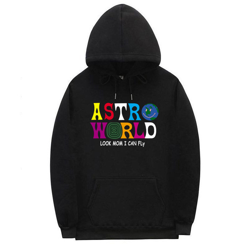 Multiple Styles ASTROWORLD HOODIE fashion Man and woman Streetwear Sweatshirt letter Look MoM I Can FLy Hoodie Pullover(China)
