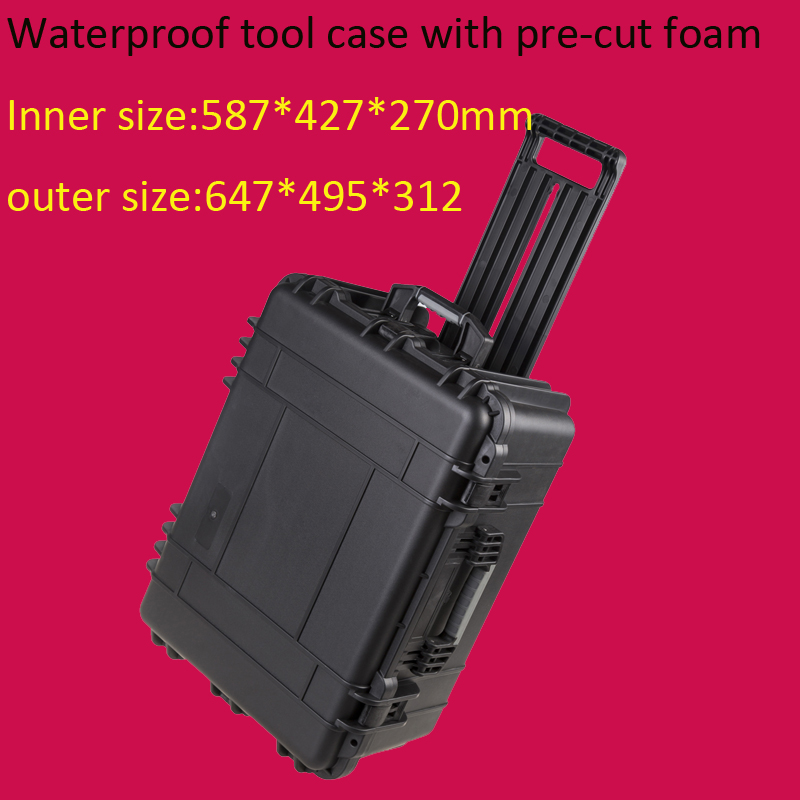 Tool case toolbox trolley Impact resistant sealed waterproof wheel case Photographic equipment box camera case with pre-cut foam tool case gun suitcase box long toolkit equipment box shockproof equipment protection carrying case waterproof with pre cut foam