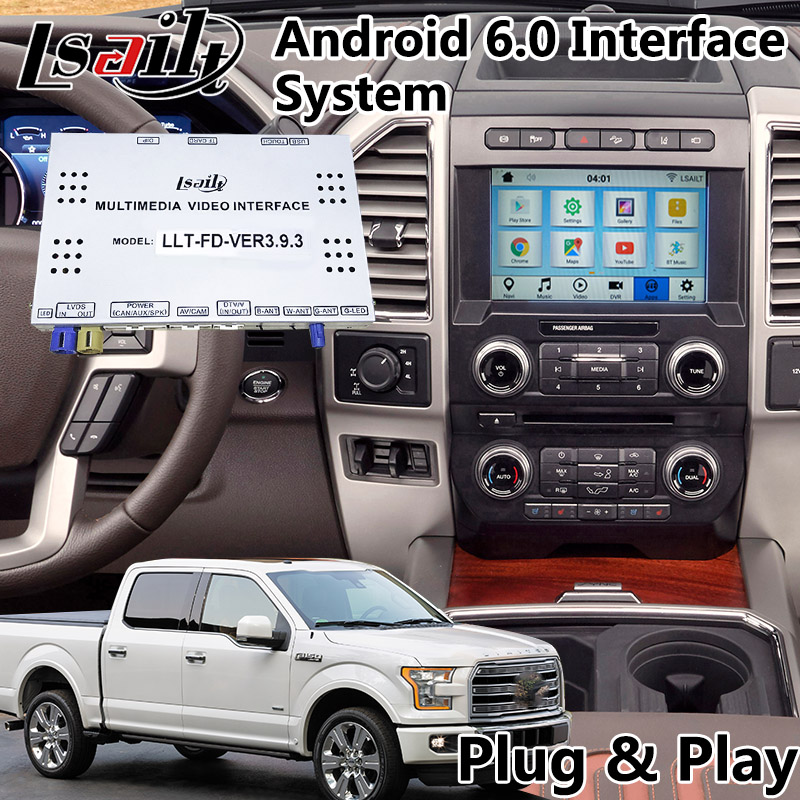 Android 6.0 Car Video Interface GPS Navigation Box for Ford sync3 system 2016 2018 year, F150 F250 F350 F450