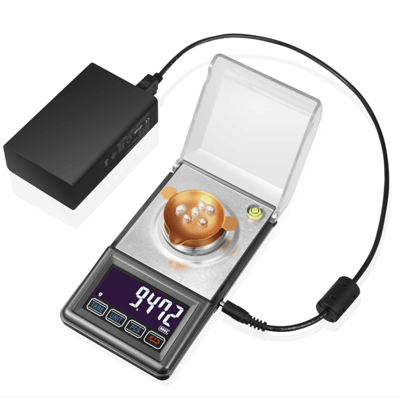 LCD Digital Jewelry Scale 30G 0.001g Gram Milligram Scales Lab Diamond USB Power Accuracy Weight Balance Touch Bottom With Box 30g 0 001g precision lcd digital scales gold jewelry weighing electronic scale