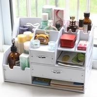 Large Multi Function Desktop Office Data File Holder Desktop Sstorage Box With Drawer Cosmetic Box