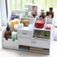 Large Multi Function Desktop Office Data File Holder Desktop Sstorage Box With Drawer Cosmetic Box