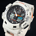 Epozz LED digital watch men boys sport waterproof 100m Swimming White Color Rubber Strap Outdoor Wristwatch Relogios Masculinos