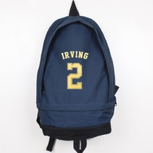 Kyrie Irving Canvas Backpack High Quality Men Women Laptop Backpack Large Capacity Travel Backpack Boy Girl School Bag kingsons 2017 large capacity 15 6 inch laptop backpack men business bag women school travel rucksack high quality daily pack