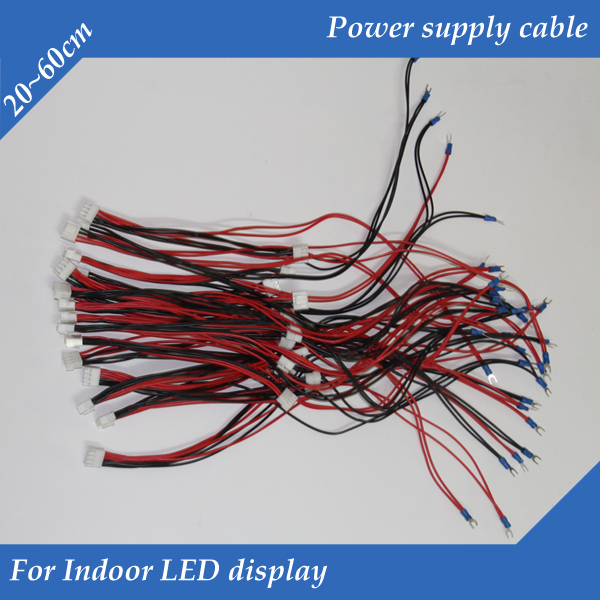 10pcs/lot Indoor Pure Copper 20-60cm 4pin Long Power Supply Cable /Power Cord /Power Wire For Indoor LED Display Module