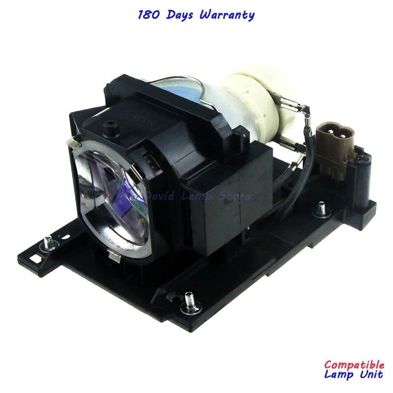 Frete Grátis DT01022 DT01026 Lâmpada de Substituição com Habitação para Hitachi CP-RX80W/CP-RX78/ED-X24/CP-RX78W/CP-RX80