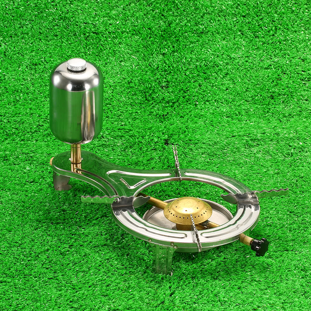 Nouveau Design en plein air liquide alcool cuisson cuisinière gazéification Camping poêle four brûleurs pour pique-nique en plein air randonnée Camping équipement