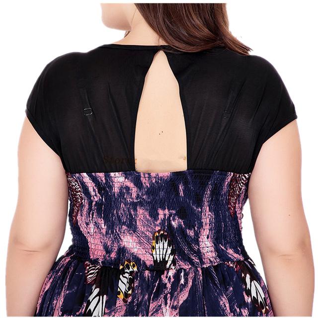 VITIANA Brand 2017 Womens Summer Elegant Sexy V Neck Clothing Print Maxi Long Party Casual Dress Plus Size 5XL 6XL Vestidos