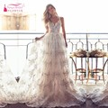 Full Lace A Line Wedding Dresses Backless Lurelly Bohemia Bridal Gowns Sexy Spaghetti Neck Best Selling Wedding Dress