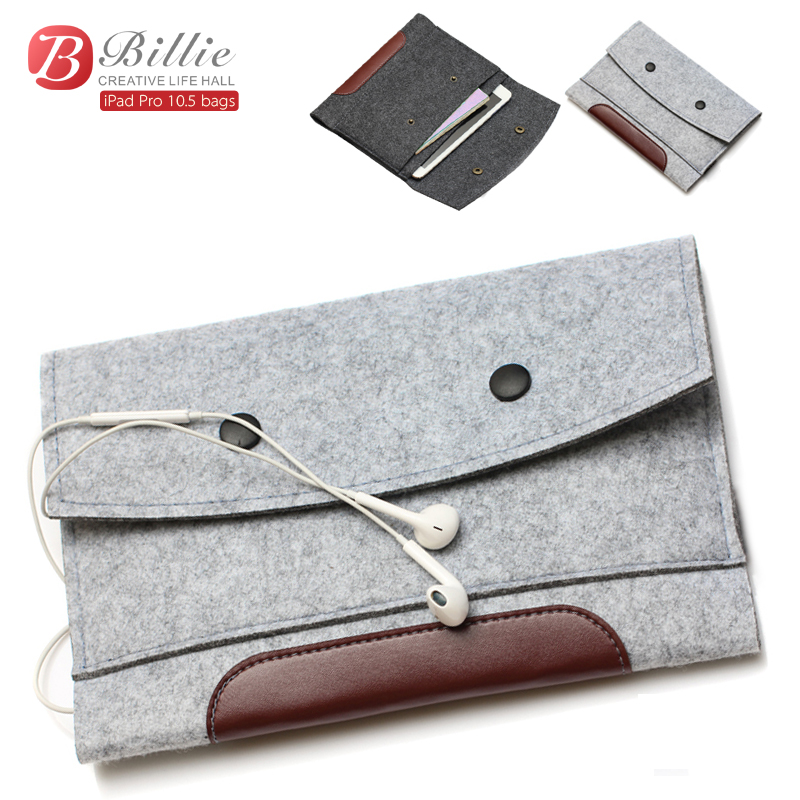 High quality Wool Felt bags For Apple iPad Pro 10.5 Tablet Case Sleeve For Pro 10.5 inch Anti-scratch  Sleeve Bag Pouch Case wool felt cowboy hat stetson coffee