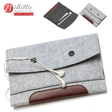 "Купить с кэшбэком High quality Wool Felt bags For Apple iPad Pro 10.5"" Tablet Case Sleeve For Pro 10.5 inch Anti-scratch  Sleeve Bag Pouch Case"