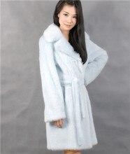 2015 winter woman fashion real mink fur long real mink coat 8023-90