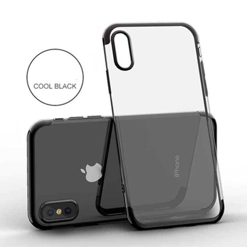 Warna-warni Silcone Lembut Ponsel Case untuk iPhone 6 6 S 7 7 Plus X XR X Max 5 5 S se Raja Ratu Conque Fundas untuk iPhone 7 Telepon Kasus