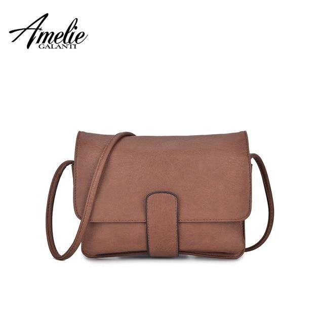 b5584ecb AMELIE GALANTI новинка женщины сумку satchels высокое качество твердые дамы  офис сумки на ремне бесплатная доставка
