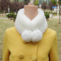 Autumn and winter soft imitation fur collar Rabbit fur collar wool, warm ball scarf bib