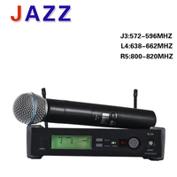 Free shipping High quality UHF PRO mic SLX24/beta58A Wireless system Karaoke Microphone Stage KTV DJ Professional microphone