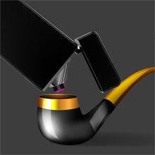 Трубы импульсного двойной дуги легче USB электронный табака легче факел плазмы ветрозащитный легкий мужчин Авто-прикуриватели-6008b