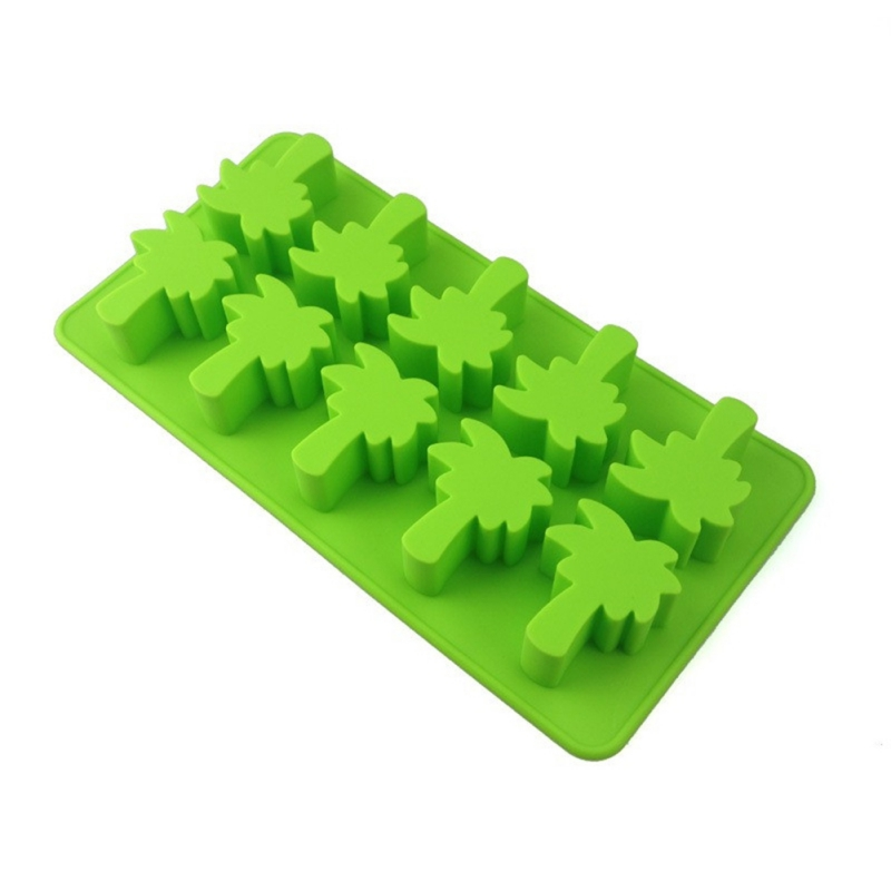 Kitchen Dining Bar Silicone Ice Cube Cake Mold Coco Cactus Flamingo Pineapple Shape For Summer Cute Funny Ice Cake Home Supplies