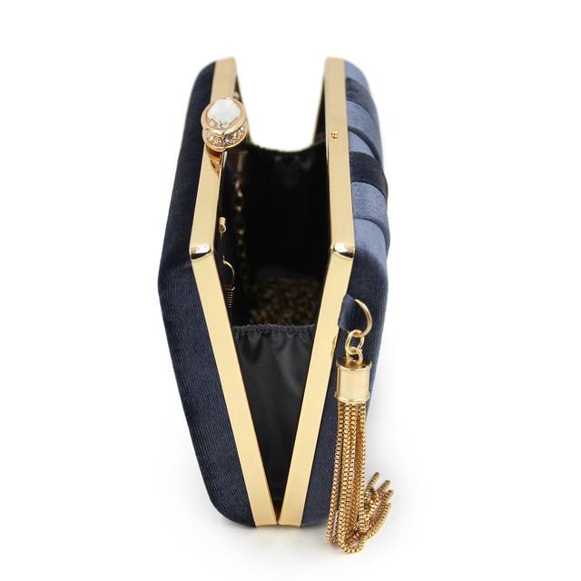 Women Suede Tassel Evening Bags 3