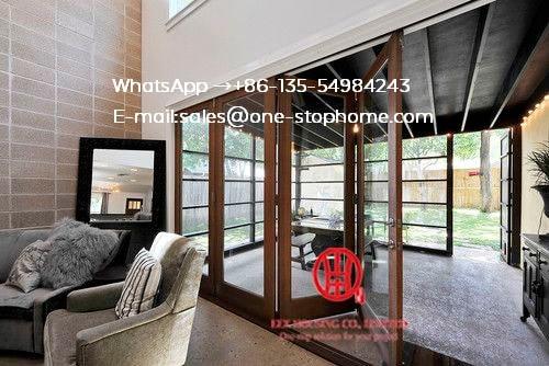 Porte pliante à la maison pliante en Aluminium Souble insonorisée, portes pliantes économiseuses d'énergie, portes pliantes de Patio extérieur