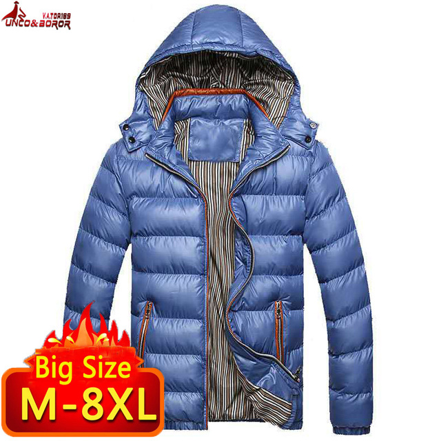New Winter Jacket men 6XL 7XL 8XL Casual Mens Jackets And Coats Outwear cotton padded Parka Men windbreaker hooded Male Clothes Others Men's Fashion