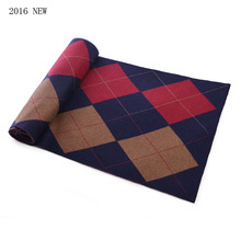 Tartan Scarf Men With Cotton Warm Big Size 135*175 CM Long Cachecol Masculino Gift Winter Scarf Men