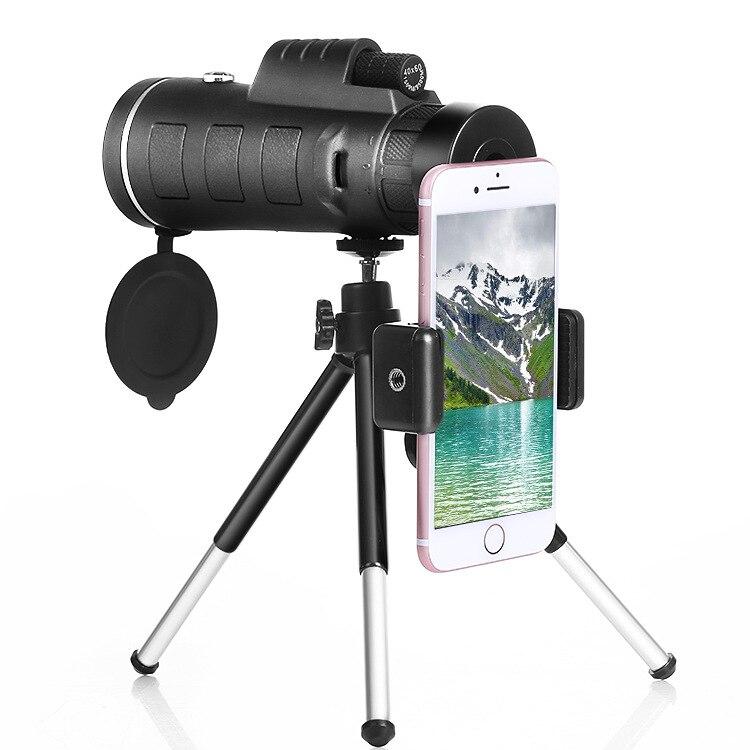 Сотовый телефон телескоп HD высокой Мощность низкой освещенности ночного видения 40X60 мобильного телефона зажимы для активного отдыха