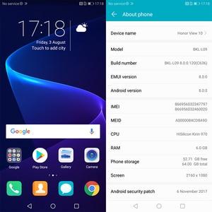 Image 5 - Honor v 10 4G 64G widok 10 oryginalny telefon komórkowy octa core 5.99 cala view10 podwójna kamera tylna id odcisku palca NFC honor v 10
