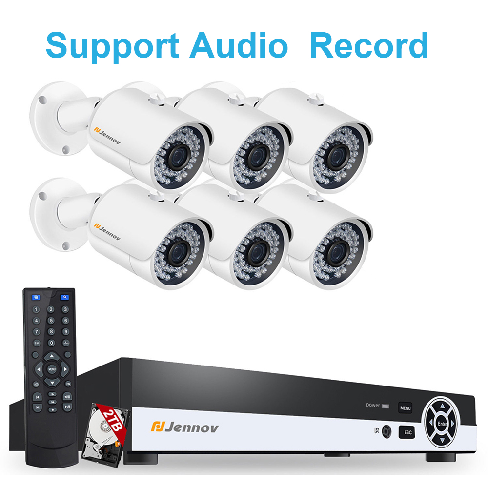 6CH POE 1080P 2MP Audio Record Home Security Camera With Led Light Video Surveillance System Kit CCTV Set NVR Outdoor ipCam IR 6ch poe 1080p 2mp audio record home security camera with led light video surveillance system kit cctv set nvr outdoor ipcam ir