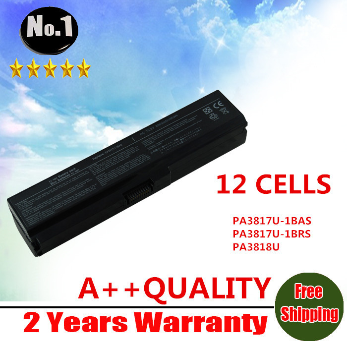 wholesale New 12 cells Laptop Battery For Toshiba Satellite L735 L745 L755 L730  series PA3817U-1BAS  PA3817U-1BRS Free shipping wholesale new 6 cells laptop battery for dell latitude d620 d630 d630c d631 series 0gd775 0gd787 0jd605 0jd606 free shipping