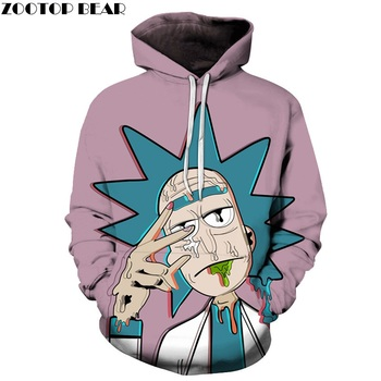 Rick and Morty 3D Rick Hoodie