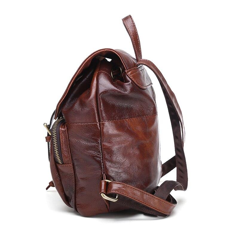 Булыжник Легенда известных брендов 2018 мужской большой емкости коровья кожа рюкзак большой размер рюкзаки для путешествий студенческие шко... - 6