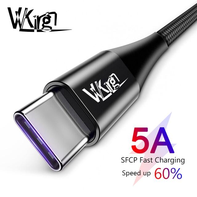 VVKing USB-C Cable 5A sobrecargar USB tipo C para Huawei p20 lite de carga rápida cargador rápido Cable para samsung S9 8 Nota 9