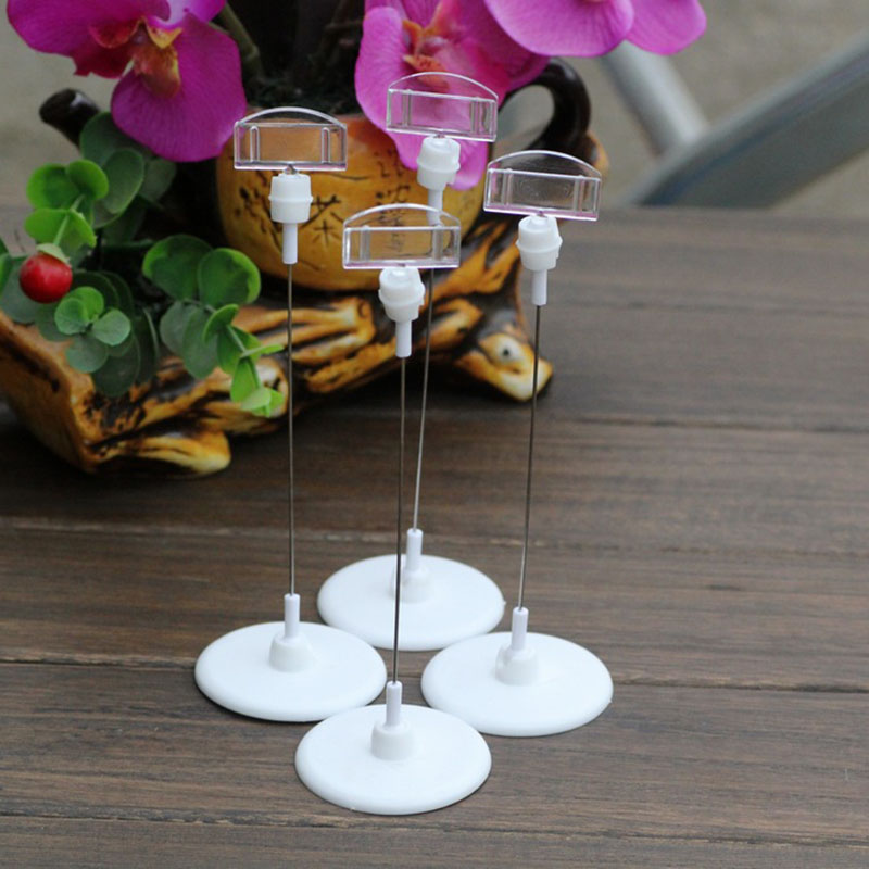 5pcs/lot Place Card Holder Table Number Figure Name Card Clips Base Digital Seat Decoration Wedding Party Supplies image