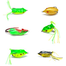 Topline Tackle 1pcs Soft Frog Fishing Lures Double Hooks 6g 9g 13g Top Water Ray Frog Artificial Minnow Crank Soft Bait Fishing 1pcs soft rubber frog fishing lure bass crankbait 3d eye simulation frog spinner spoon bait 8cm 6g fishing tackle accessories