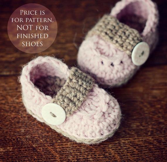 Free Shipping Handmade Crochet Pattern Baby Booties Pdf File Baby