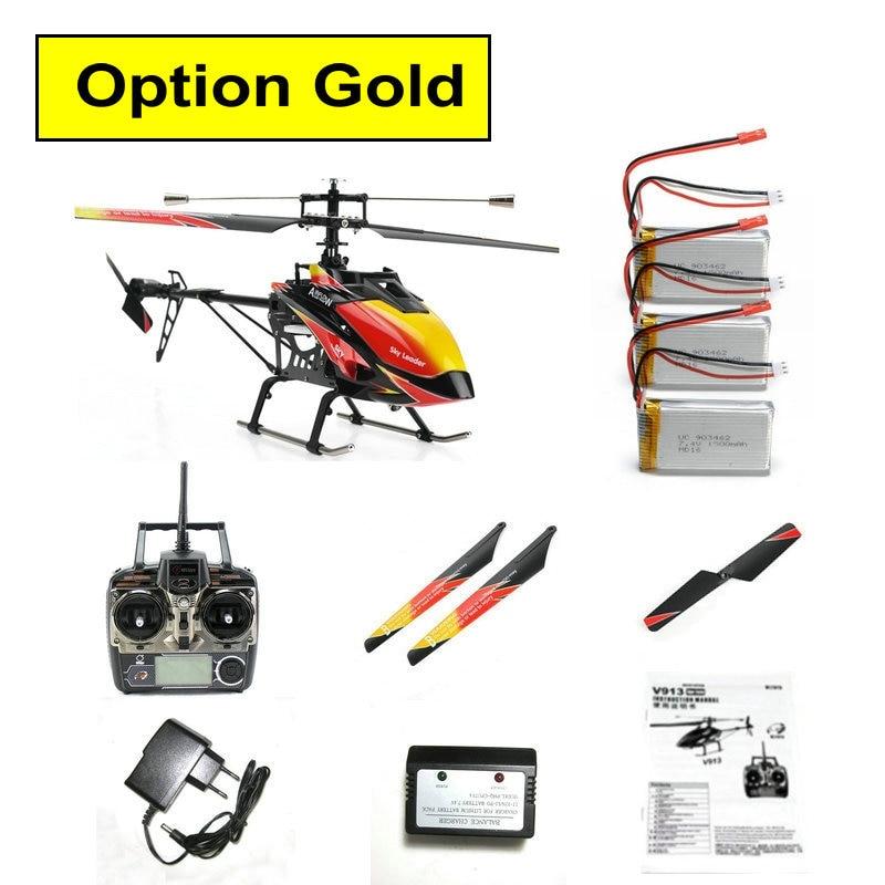 Brush Motor WLtoys V913 2.4G 4ch single-propeller rc helicopter 70cm Built-In Gyro WL toys r/c helikopter model