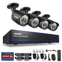 SANNCE 4CH 1080P Surveillance AHD DVR Kits 4PCS 2 0MP 3000TVL IR Night Vision Waterproof Security