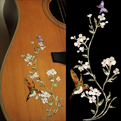 Inlay Sticker Decals for Guitar Bass - In The Garden guitar or bass tree of life fretboard silver color inlay ultra thin sticker